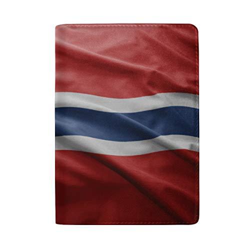 Funda de Piel para Pasaporte de la Bandera de Noruega – Soporte – Funda para Pasaporte