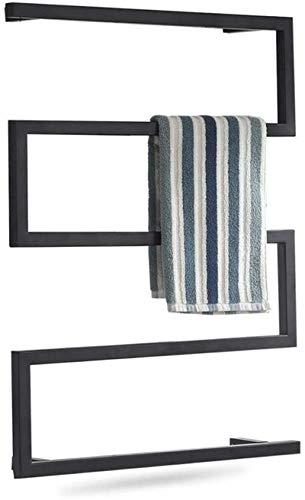 Radiadores de baño Calentador de toallas, calentador de toallas, perchero de secado de toallas cuadradas de pared, rack eléctrico de toalla de toalla caliente para baño Cocina Hotel 31.5x23.6inch, 95w