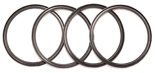 4 Pack New OEM Replacement Black Rubber Lid Seals For 10, 12, 16 and 20 Ounce Insulated Stainless Steel Tumblers Such as Yeti RTIC Ozark Trail Mossy Oak Atlin Beast