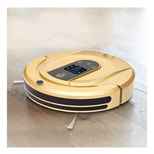 HJQFSJ Kehrroboter Intelligent Saugroboter 90 Min Laufzeit, autonomer Staubsauger ideal for Haustierbesitzer, Reinigt Harte Böden,Teppiche,Hartholz (Color : Gold)