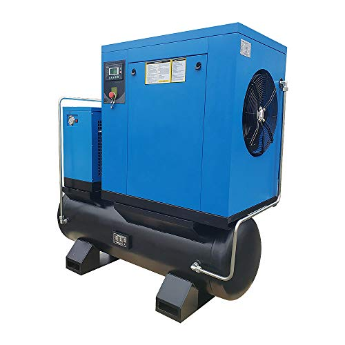 HPDAVV Total Rotary Screw Air Compressor With ASME Tank &...