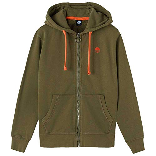 NORTH SAILS Hooded Full Zip W/Logo Felpa con Cappuccio, Ivy Green, XX-Large Uomo
