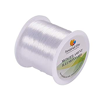 PH PandaHall 109 Yards 0.25mm Clear Fishing Line Invisible Nylon Thread Jewelry String Wire Cord String for Craft Jewelry Bracelet Making Craft String