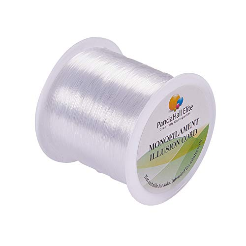 PandaHall Elite 100m/roll 0.25mm Clear Nylon Wire Nylon Thread Fishing Line Wire for Craft Bracelet Jewelry Making
