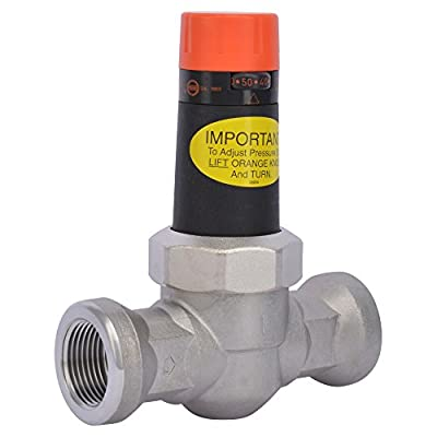 Cash Acme 22266-0045 EB-25 1-Inch Water Pressure Regulator 45 PSI, Stainless Steel Body, NPFT Connections by Cash Acme