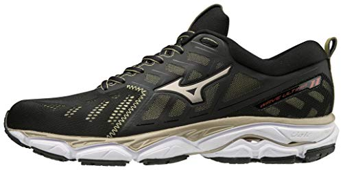 Mizuno WAVE ULTIMA 11 Amsterdam, Scarpe running uomo, Nero (Black/Gold/White 01), 45 EU