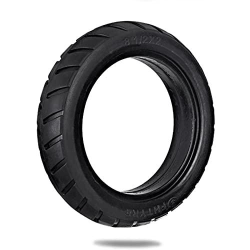 GYAM Rueda de neumático de Scooter Delantera/Trasera de 8.5 Pulgadas, neumático de Repuesto sólido, 8 1 / 2X2, Compatible con patineta eléctrica para Scooter (1 Pieza)