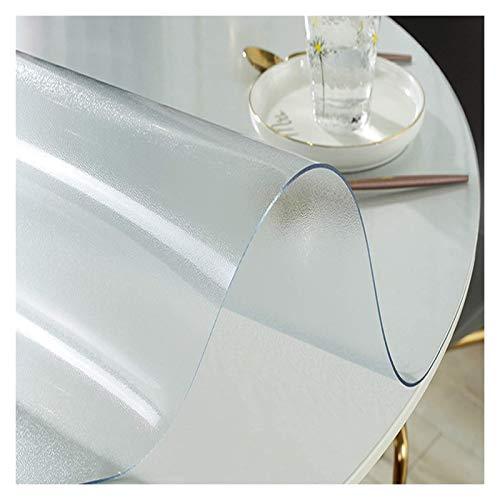 Mantel Transparente Protector De Cubierta De Mesa Redonda, Protector De Mantel Transparente Mate, Almohadilla De Mesa De PVC Impermeable/A Prueba De Aceite (Size : 1.5mmx120)