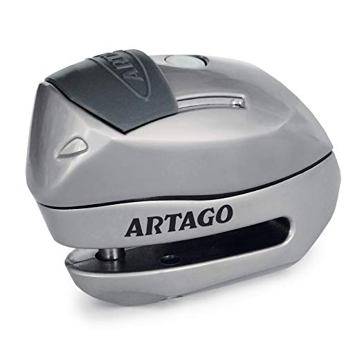 Artago 24S.6M Candado antirrobo Moto Disco Alarma 120 db Warning Inteligente, ø 6 mm, metálico, Multicolor