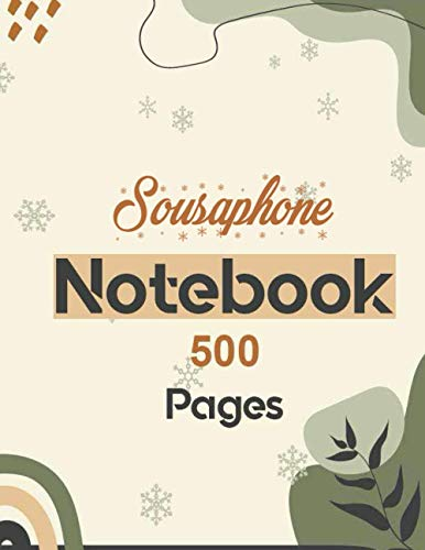 Sousaphone Notebook 500 Pages: Lined Journal for writing 8.5 x 11| Writing Skills Paper Notebook Journal | Daily diary Note taking Writing sheets
