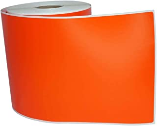 """6 Rolls; Orange 4"""" x 6"""" Direct Thermal 250 Color Labels per Roll Compatible with Zebra/Eltron- 4x6 Labels (4"""" x 6"""") - BPA Free!"""