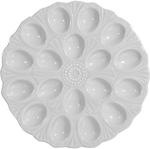 Eierteller, Keramik, 18 Teile, 28 cm Durchmesser