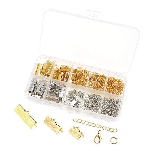 OTOTEC 370 stks gouden zilveren lint armband gespen klem sieraden kralen maken kit met opslag organisator case