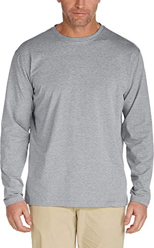 Coolibar Men's UPF 50 + ZNO T-Shirt à Manches Longues-Gris-Taille 46/2X-Taille L