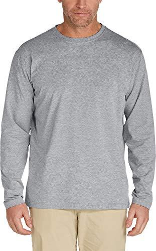 Coolibar Herren ZNO T-Shirt Long Sleeve UPF 50 Plus, Grau, L