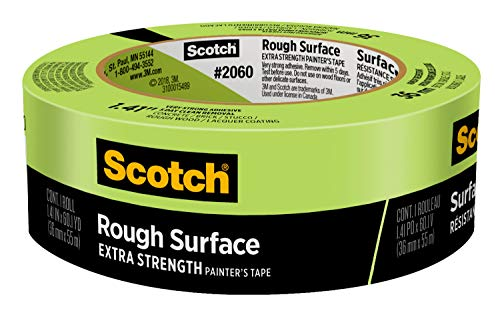 Scotch Rough Surface Extra Strength Masking Tape, 1.41 inch x 60 yard, 2060, 1 Roll