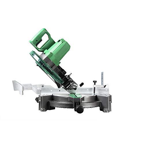 Metabo HPT 10-Inch Compound Miter Saw, Single Bevel, 15-Amp Motor, 0-52° Miter Angle Range, 0-45° Bevel Range, Large Table, 10