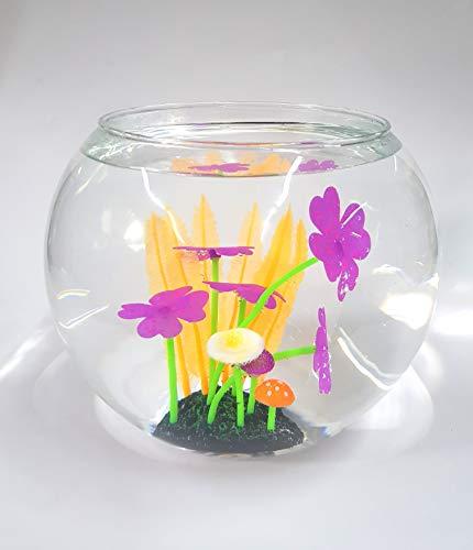 takestop® planten met kleurrijke bloemen 8 x 12 cm Eden_6594 kunstplant voor aquarium decoratie kleur casual