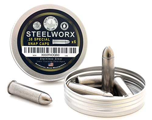 Steelworx 38 Special Stainless Steel Snap Caps (6 Pack)