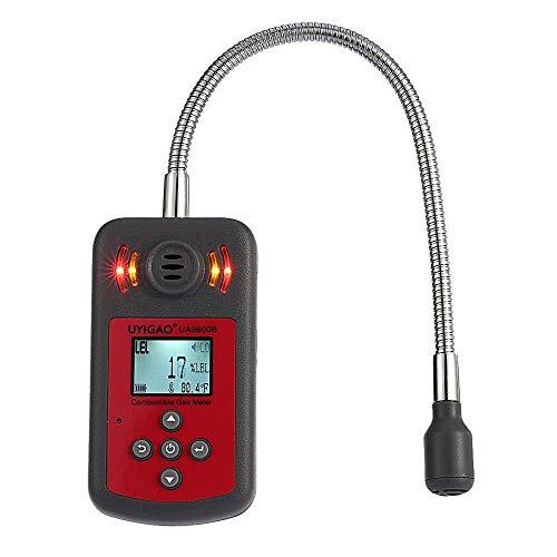 JF-Xuan LCD digital Detector de gas combustible Automoción Localización de fugas Determinar alarma Tester Analizador de Gas con la luz de sonido