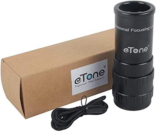 eTone Professional Photography - Lupa de cristal mate (6 unidades, para 4 x 5, 8 x 10, Toyo Linhof Tachihara, madera de ébano, gran formato)