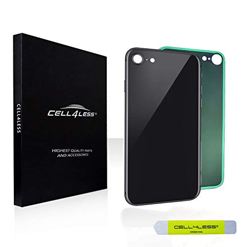 Back Glass Cover OEM Battery Door Replacement w/Adhesive & Removal Tool for Apple iPhone 8 (Space Gray)