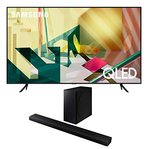 Samsung QN75Q70TA 75' Ultra High Definition Smart 4K QLED Quantum HDR TV with a Samsung HW-Q800T 3.1.2 Ch Dolby Atmos Soundbar and Wireless Subwoofer (2020)