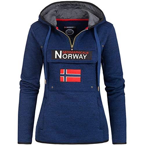 Geographical Norway UPCLASSICA Lady - Sudadera Capucha Bolsillos De Forro