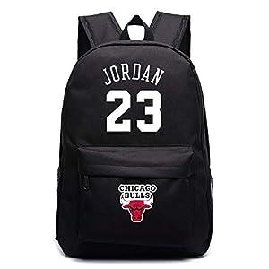 41ZPdagsG5L. SS300  - ULIIM - Mochila de lona de alta capacidad con el número 23, el nombre de Michael Jordan y el logotipo de los Chicago…