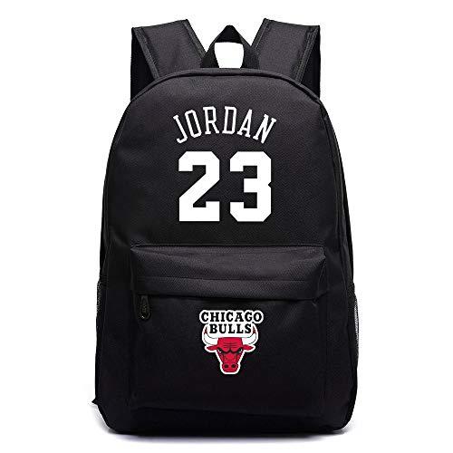 ULIIM Michael Jordan 23 Mochilas Escolares de Lona de Alta Capacidad Bolsas de Viaje para Estudiantes Mochila para Portátil Mochila para Portátil