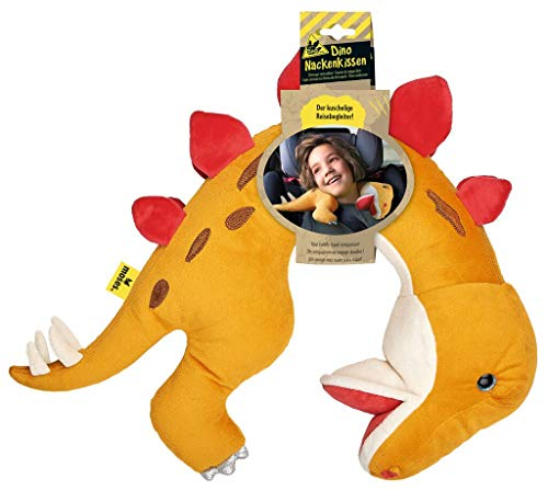 moses. Dino - Almohada Cervical para niños, Ideal para Viajes Largos