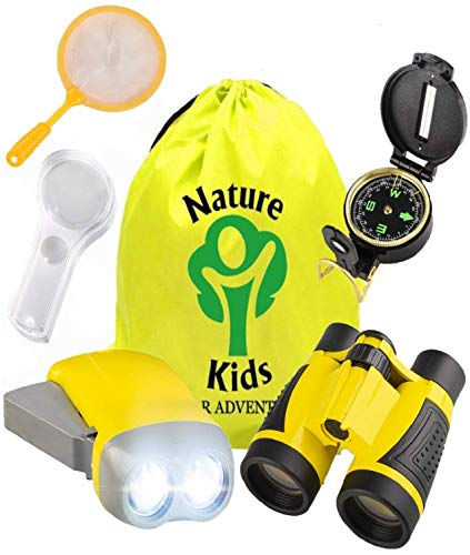 Adventure Kids - Outdoor Explorer Kit Binoculars, Flashlight, Compass, Magnifying Glass, Backpack & More. Educational Set for 3, 4, 5, 6+ Year Old Boys & Girls | Toys Gifts for Children Ages 3yr - 7yr