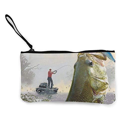 Quecci Monederos Eco-Friendly Fishing Master Women and Girls Cute Fashion Canvas Coin...