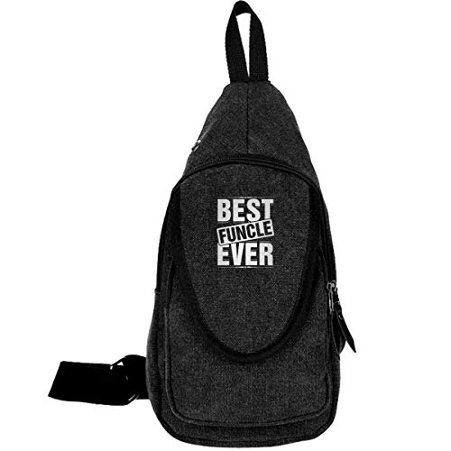Negi Best Funcle Ever Chest Crossbody Sling Bag Shoulder Backpack Travel Daypack