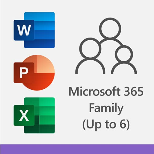Microsoft 365 Family | 12-Month Subscription, up to 6 people | Premium Office Apps | 1TB OneDrive cloud storage | PC/Mac Download