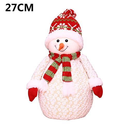 househome Decoración navideña Stand-Post Bear muñeco de Nieve muñeco de Alce Innovadora Ventana de Santa...