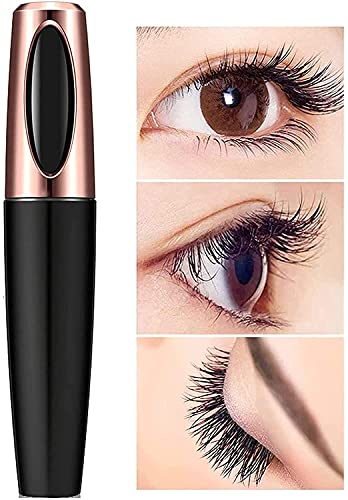 4D Silk Fiber Lash Mascara & Eyeliner Black Set, Liquid Extension, Best for Eyelash Thickening & Lengthening, Long Lasting Waterproof, Natural Non-Toxic Hypoallergenic, All Day Luxurious Natural Look