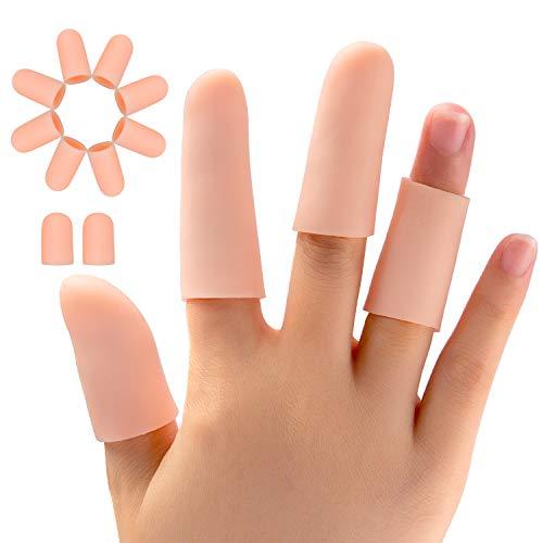 Promifun Gel Manicotti per dita, Protezioni per dita in silicone, 20 confezioni di tappi per dita...