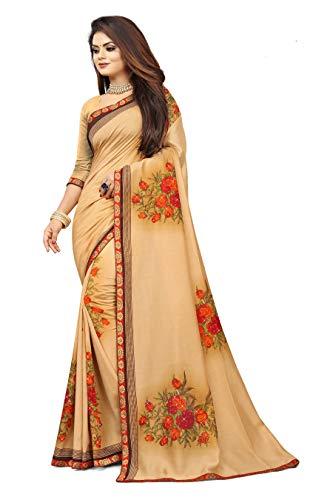 Gaurangi Creation Women's Art Silk Printed Woven Saree with Blouse Piece (KGN F Beige)