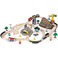 61-Piece KidKraft Bucket Top Construction Train Set