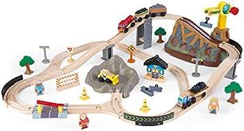 61-Piece KidKraft Bucket Top Construction Train Set