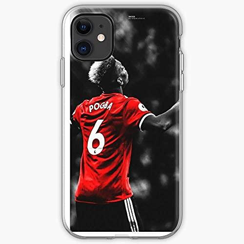United Manchester Pogba Paul Custodia per telefono Pure Clear Cover iPhone 12/11 Pro Max 12 mini SE X/XS Max XR 8 7 6 6s Plus