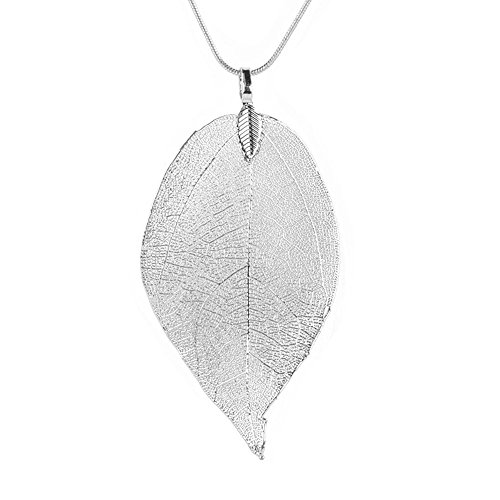 jieGorge Women Special Leaves Leaf Sweater Pendant Necklace Ladies Long Chain Jewelry, Necklaces & Pendants , for Christmas Day (SL)