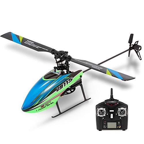 Goolsky WLtoys V911S 4CH 6G Helicóptero sin Alerón RC con Giroscopio para Entrenar Juguetes para Niños con 1 Baterías