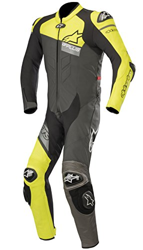 Alpinestars GP Plus Venom - Traje de motorista de piel (1 pieza), color negro y amarillo