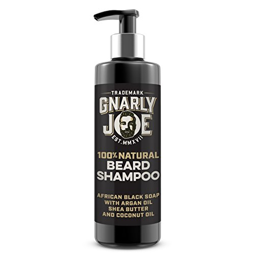 Gnarly Joe Beard Shampoo for Men. 100% Natural African Black Soap with Shea Butter. Scented Beard Softener (Coconut, 250ml)