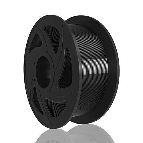 XVICO Filament PLA 1,75mm Schwarz, 3D Drucker PLA Filament 1 KG 1 Spule(Black)