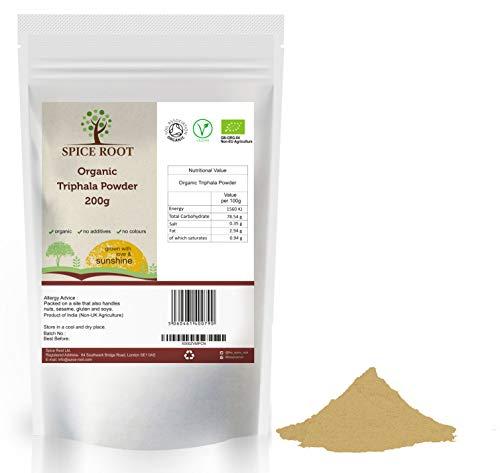 Bio Triphala Pulver 200g (Bibhitaki, Haritaki, Amalaki) - Zertifiziertes Bio, Premium-Qualität   Hervorragend für die Verdauung