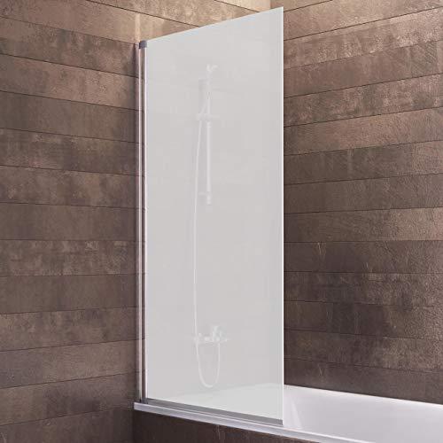 Schulte Duschwand Berlin, 70 x 130 cm, 5 mm Sicherheitsglas matt sandgestrahlt, alunatur, D16503 01 60, Duschabtrennung für Badewanne