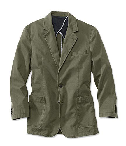 Orvis Men's Washed Casual Sport Coat, Olive, 44
